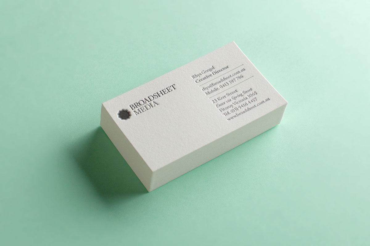 The Company You Keep – Broadsheet Business Cards |