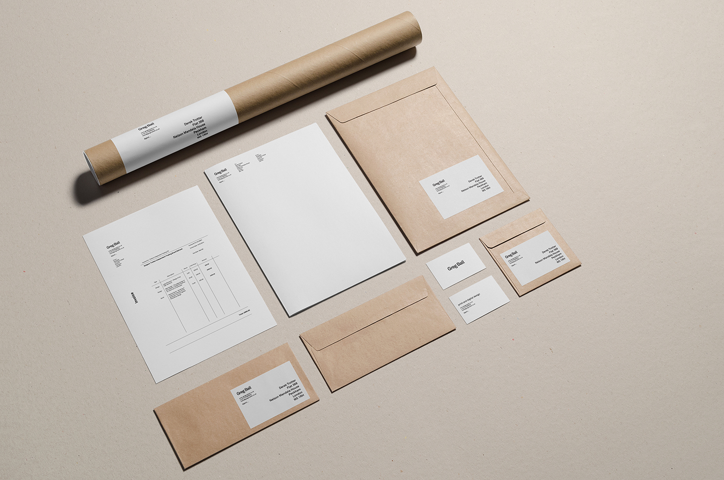 Gregory Ball – Personal Stationery |